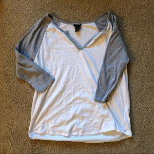 Torrid 3/4 sleeve Cotton Henley T-shirt